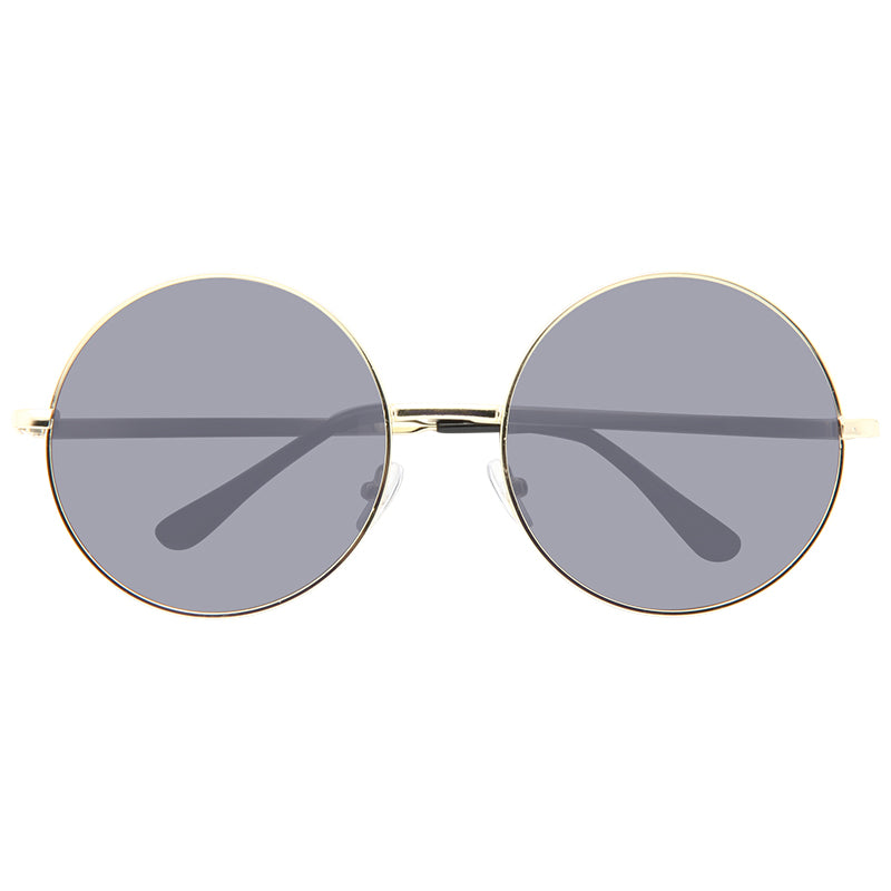 Lennon 5 Oversized Metal Round Super Dark Sunglasses