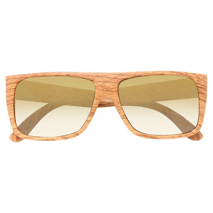Alex Wood Grain Super Dark Flat Top Sunglasses