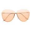 Hallett Semi-Rimless Color Tint Aviator Sunglasses