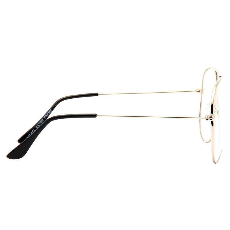 Classic 56mm Clear Aviator Glasses