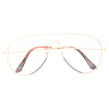Classic 60mm Clear Aviator Glasses