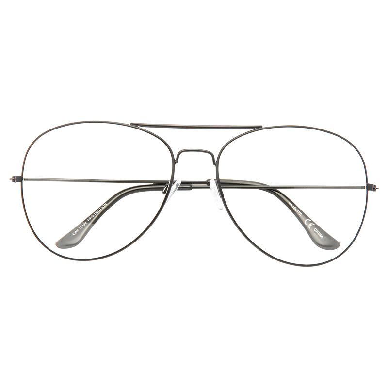 Classic 66mm Oversized Clear Aviator Glasses