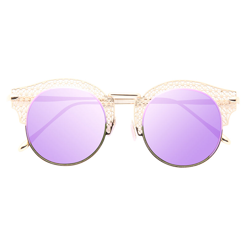 Chantilly Metal Cutout Horn Rimmed Sunglasses