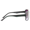 Carson 2 Color Stripe Plastic Aviator Sunglasses
