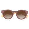 Solen Wood Grain Gradient Round Sunglasses