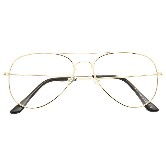 Classic 54mm Clear Aviator Glasses