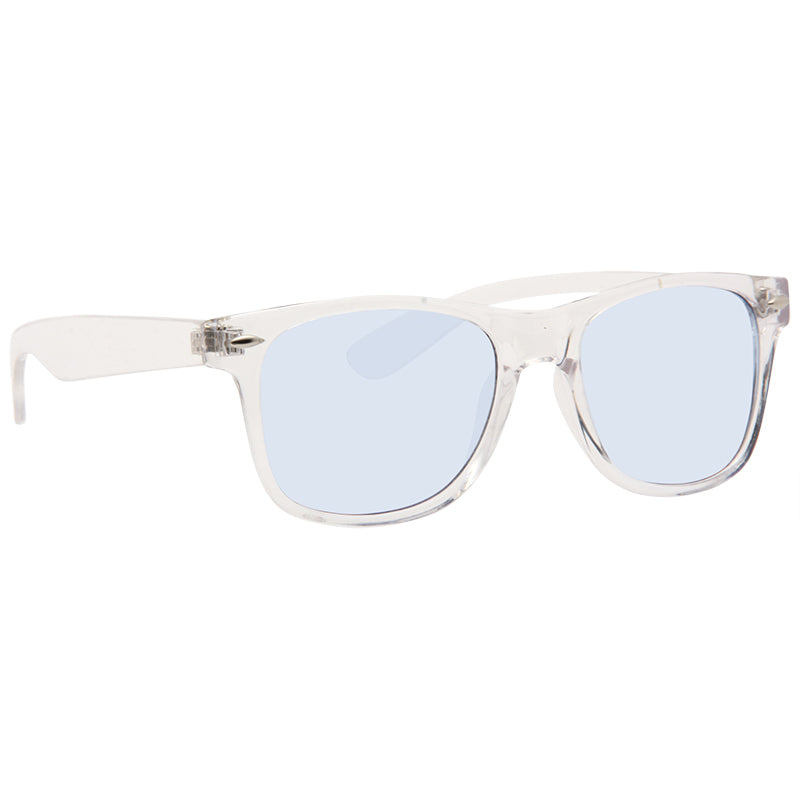 Jude Large Horn Rimmed Tinted Lens Clear Frame Sunglasses