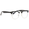 Peyton Unisex Metal Clear Half-Frame Blue Light Blocking Glasses
