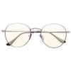 Ellington 4 Metal Flat Lens Clear Blue Light Blocking Glasses