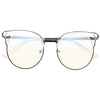 Causey Metal Trimmed Horn Rimmed Clear Blue Light Blocking Glasses