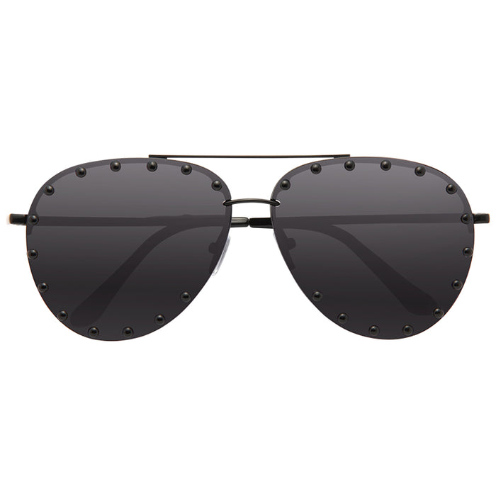 Downey Oversized 65MM Studded Aviator Sunglasses