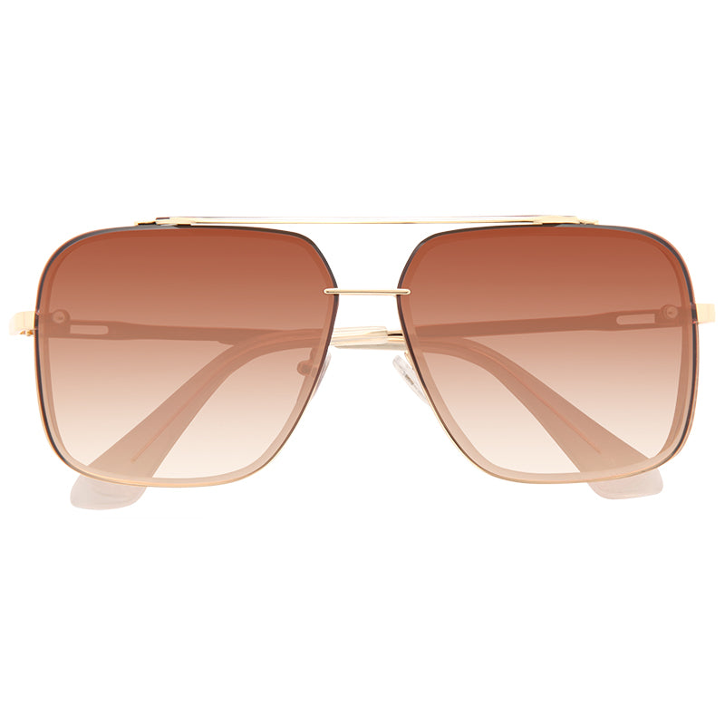 Foxfire Beveled Lens Metal Aviator Sunglasses