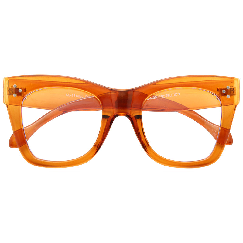 Tilda 2 Oversized Designer Inspired Blue Light Blocking Clear Glasses