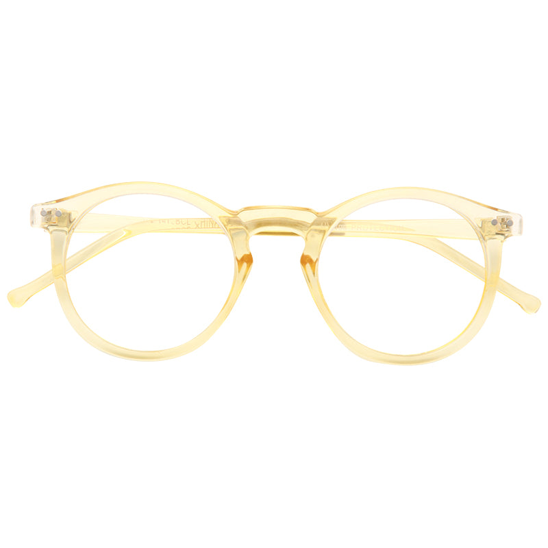 Galway Unisex Rounded Blue Light Blocking Clear Glasses