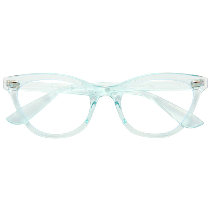 Emma Blue Light Blocking Clear Cat Eye Glasses