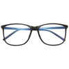 Easley Unisex Blue Light Blocking Clear Horn Rimmed Glasses