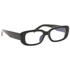 Socorro Skinny Squared Blue Light Blocking Clear Glasses