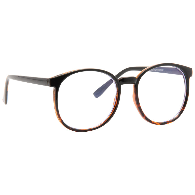 Depp Blue Light Blocking Round Clear Glasses