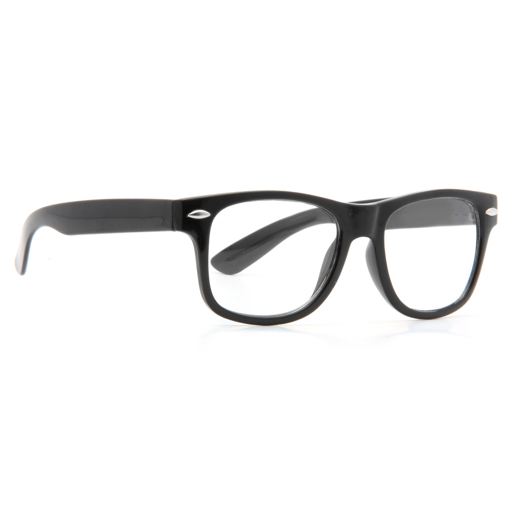 Kids Small Clear Horn Rimmed Glasses
