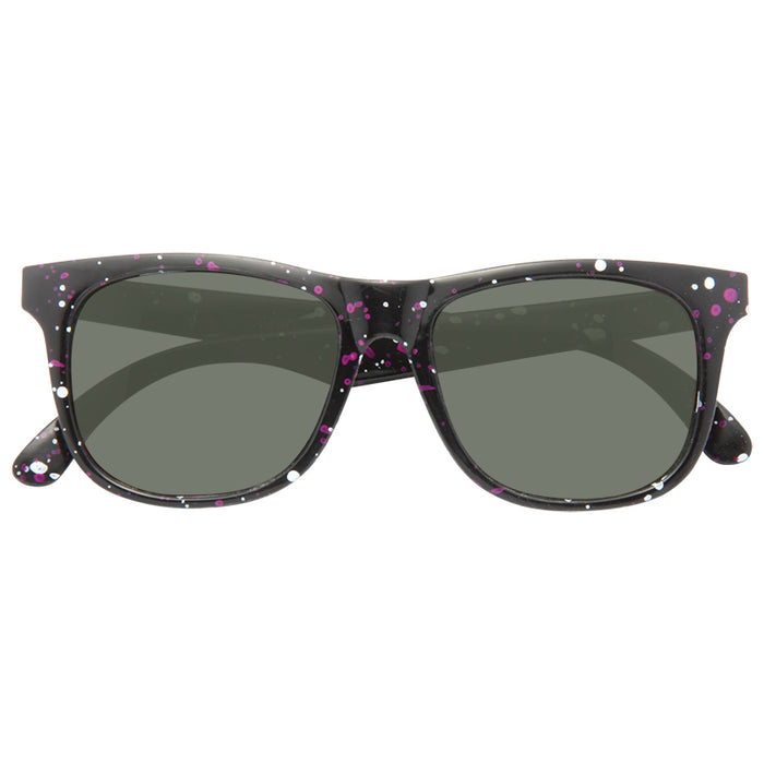 Kids Splatter Paint Horn Rimmed Sunglasses