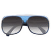 Kids Two Toned Stripe Transparent Aviator Sunglasses