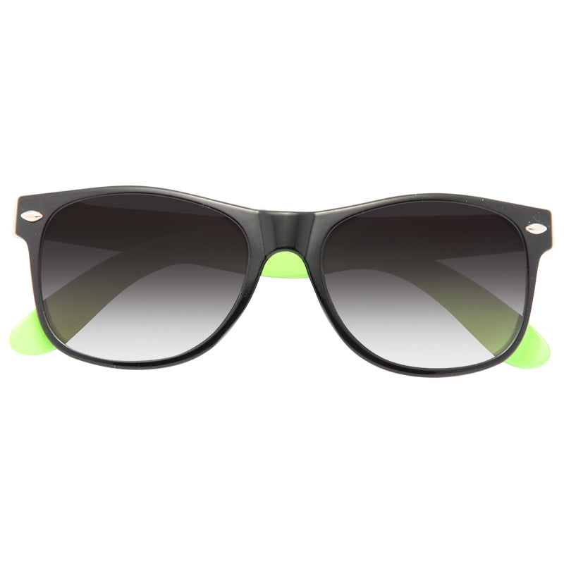 Kids Two Toned Plastic Horn Rimmed Sunglasses