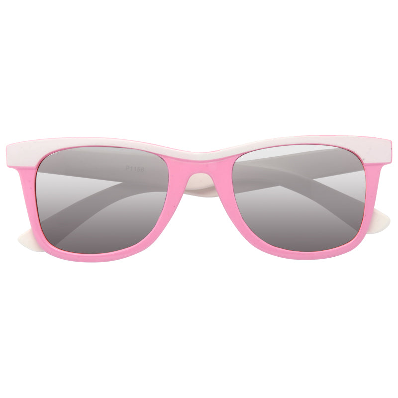 Kids Two Toned Brow Plastic Horn Rimmed Sunglasses
