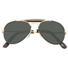 Kids Classic 48MM Leather Trim Aviator Sunglasses
