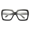 Leisure Designer Inspired Oversized Square Clear Glasses