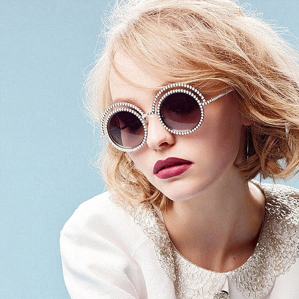 Lily-Rose Depp Style Oversized Round Sunglasses