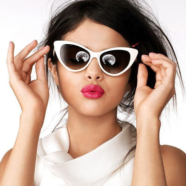Selena Gomez Style Cat Eye Celebrity Sunglasses