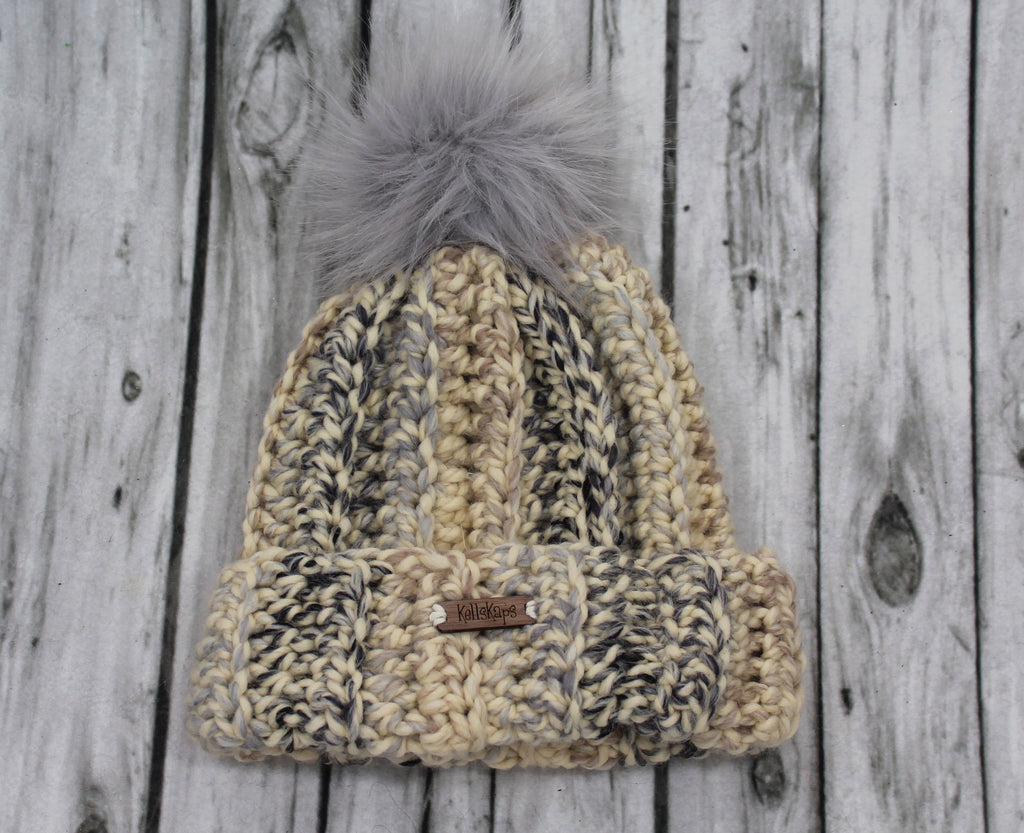 The Mimi Beanie with Faux Fur Pom Pom