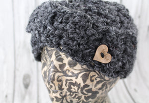 The Over and Under Headband in Charcoal.
