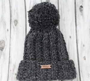 The Mimi Beanie in Charcoal