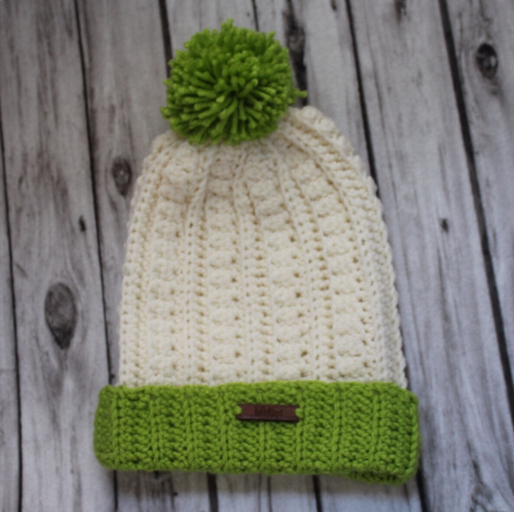 Handmade Crocheted hat, St. Paddy themed, KellsKaps