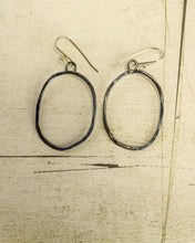 Baja Hammered Earring - large oval