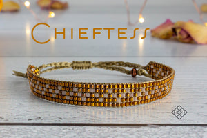 Chieftess - Gold and Oyster