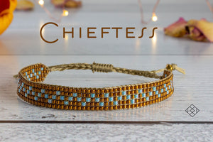 Chieftess - Bronze and Turquoise
