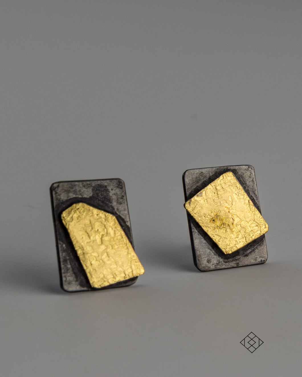 Small Post Earrings with 22K gold