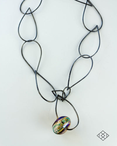 Recherche Necklace with Hollow Lampworked Bead