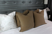 Linen & Cotton Blend Cushion Cover - Tan