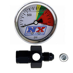N20 Flo-Thru Pressure Gauge (0-1500 psi) 6AN