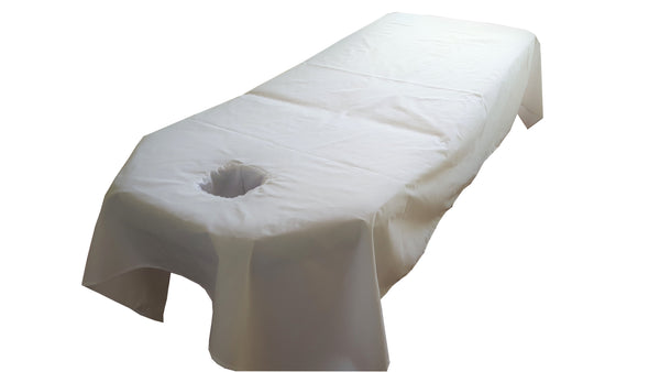 Professional Massage Table Sheets With Face Rest Hole 2