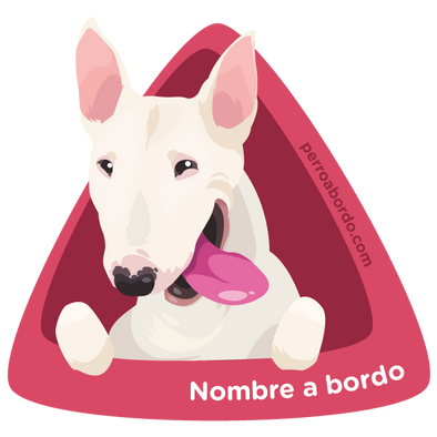 Bull Terrier a bordo (2 Colores)