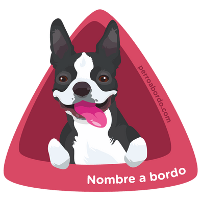 Pegatina Boston Terrier a bordo personalizada