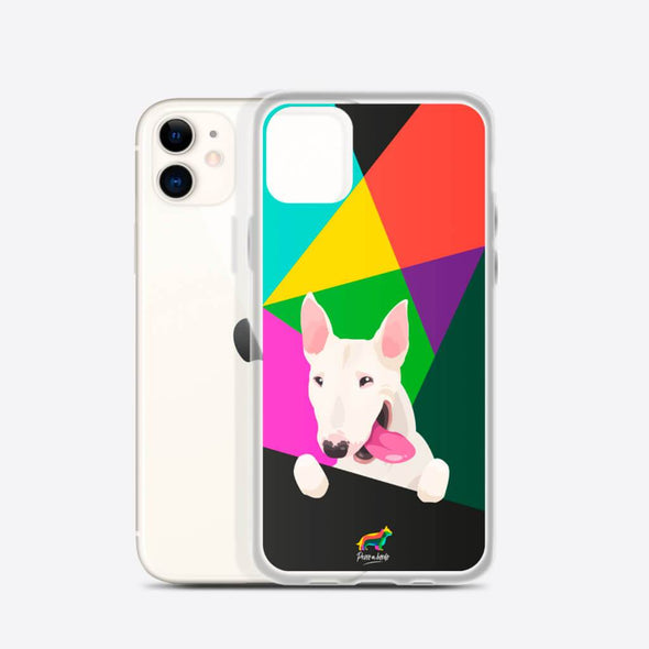 Bull Terrier Blanco (Funda para iPhone) - Perro a Bordo