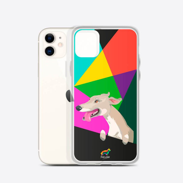 Galgo Blanco (Funda para iPhone) - Perro a Bordo