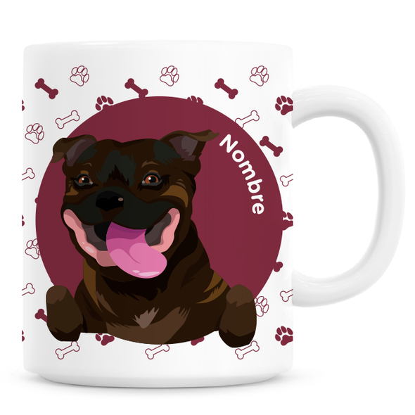 Taza Staffy Atigrado - Este trago va dedicado