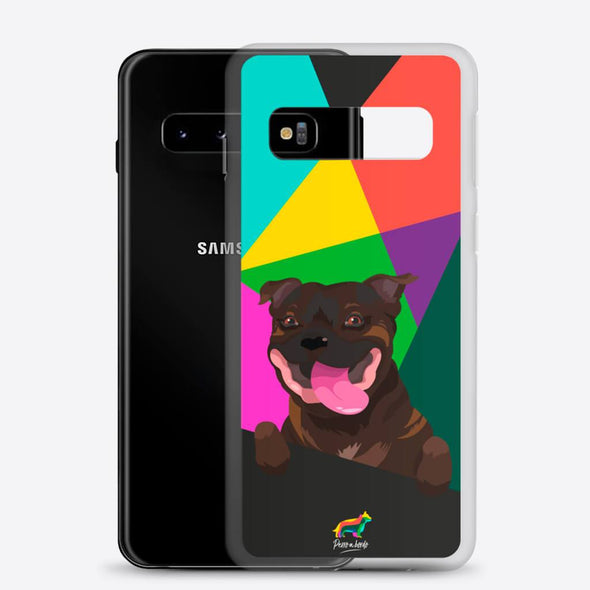 Staffy Atigrado (Funda para Samsung) - Perro a Bordo