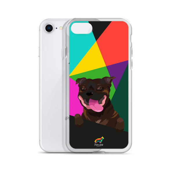 Staffy Atigrado (Funda para iPhone)